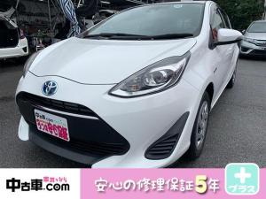 トヨタ アクア S 5年保証付(HVバッテリー含む♪) ブレーキアシスト搭載車 ETC ワンセグBT付 タイヤ4本新品
