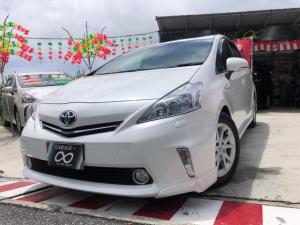 トヨタ プリウスアルファ  新入庫しました LEDランプ 本土仕入・無事故車 24ヵ月保証付き