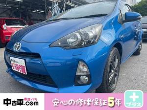 トヨタ アクア G 5年保証付(HVバッテリー含む♪) プッシュスタート フルセグBT&バックカメラ&ETC タイヤ4本新品
