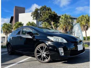 トヨタ プリウス Gツーリングセレクション ACC車間距離維持・本革ハンドル・純正ナビ・TV・Bluetooth・コーナーセンサ・ ETC・バックモニタ・社外アルミホイール・2年保証対象車