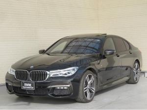 BMW 7シリーズ 740d xDrive Mスポーツ レーザーライト 20インチアルミ サンルーフ 茶革 ベンチレーション アラウンドビュー アクティブクルーズコントロール ヘッドアップディスプレイ ハ-マンカードンサラウンドシステム 認定中古車