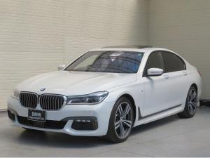 BMW 7シリーズ 750i Mスポーツ 20AW レーザーライト サンルーフ ソフトクローズ 茶革 ハーマンカードンサラウンド フルセグ リアコンフォートPKG ベンチレーション アクティブクルーズコントロール 認定中古車