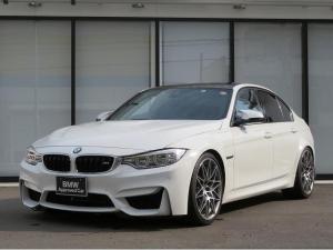 BMW M3 M3 SEDAN M DCT Competition20AW アダプティブMサスペンション カーボンインテリアトリム AC SCHNITZERサスペンション 黒革 ハーマンカードンサラウンド 認定中古車
