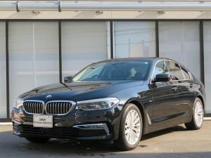 BMW 5シリーズ 523iラグジュアリー LEDヘッドライト 18AW PDC オートトランク コンフォートアクセス レザーシート ブラックレザー マルチメーター 純正ナビ iDriveナビ トップ リアビューカメラ 純正ETC 認定中古車