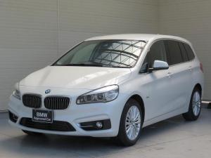 BMW 2シリーズ 218dグランツアラー ラグジュアリー コンフォートPKG LEDライト 17AW PDC オートトランク ブラックレザー 純正ナビ フルセグ リアビューカメラ 純正ETC 3列目シート レーンディパーチャーウォーニング 認定中古車