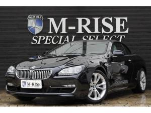 BMW 6シリーズ 650iカブリオレ 左ハンドル コンフォートPKG アイボリーレザーシート シートヒーター シートクーラー LEDヘッドライト メモリー付Pシート PDC コンフォートアクセス ヘッドアップディスプレイ 純正ナビ TV