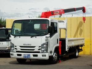 いすゞ エルフトラック 3.1t 超ロング ユニック2.9t吊3段ラジコンクレーン