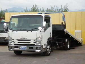 いすゞ エルフトラック 超ロング 3.55t 5.2ターボ 6速 積載車 タダノスーパーセルフ ラジコン メッキ HDDナビ フルセグTV ETC LEDヘッド・フォグ付 荷台内寸570×206 ローダー キャリアカー 運搬車