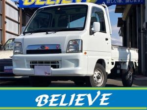 スバル サンバートラック  4WD 5速マニュアル エアコン 運転席エアバッグ CDオーディオ 三方開 走行距離77225キロ 修復歴無し 保証付き ドアバイザー エクストラロー