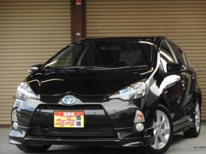 トヨタ アクア S LEDライト スマートキー プッシュスタート シートヒーター   アドバンストディスプレイ 純正16インチアルミ ETC車載器 クルーズコントロール SDナビ エアロ