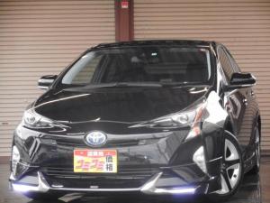トヨタ プリウス Sセーフティプラス モデリスタエアロ トヨタセーフティーセンス LEDライト 9インチSDナビ・TV ツーリング用17インチアルミ