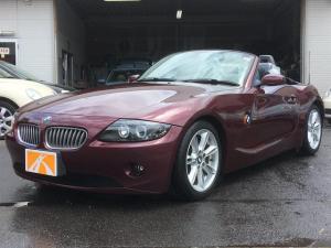 BMW Z4 3.0i 電動オープン(オープンモーター交換済) ブラックレザーシート シートヒーター パワーシート 純正ナビTV ドライブレコーダー ETC イカリングヘッドライト オートライト 純正アルミ キーレス
