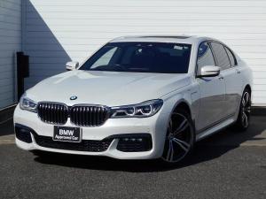 BMW 7シリーズ 740eアイパフォーマンス Mスポーツ 20AW黒革SR衝突軽減PアシストDSPキーETC 1年AC1オナ禁煙認定車