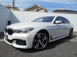 BMW 7シリーズ 740d xDrive Mスポーツ 20AW茶革SR衝突軽減地デジACCPアシストリアコンフォートpkgETC 1年AC1オナ禁煙認定車
