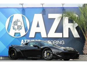 フェラーリ 458イタリア ベースグレード 2012yモデル イタリア 新車並行 LBワークス SSR鍛造20インチ EXARTマフラー 可変付 カーボンPKG LEDハンドル カロッツェリアHDDナビ クァンタム車高
