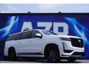 キャデラックエスカレード ESV スポーツ 新車並行車 2021年モデル パノラマサンルーフ AKGオーディオ リアエンターテイメント 純正22インチAW 電動ステップ アップルカープレイ ソフトクローズ