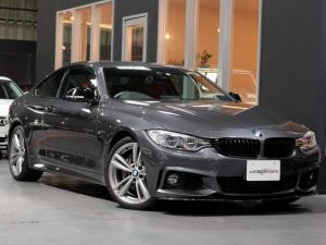BMW 4シリーズ 435iクーペ Mスポーツ オプションLEDヘッド&フォグ 赤革シートH ACC追従クルコン/インテリセーフ/RDW カーボンリップ/黒ドアミラー/Mパフォ黒グリル/Rスポ OP19AW(4本新品タイヤ) スマートキー 禁煙