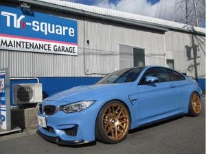 BMW M4 M4クーペ ワンオーナー 禁煙車 バックカメラ ローダウン スマートキー ETC キーレスエントリー シートヒーター ナビ  クリアランスソナー
