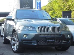 BMW X5 4.8i ミネラル・グリーンMにブラウンレザーの組合せ フロントパワーシート2メモリ付 シートヒータ 純正20AW 純正HDDナビ&9インチポータブルnavi&Bカメラ ディーラー記録簿10枚完備 キー2本