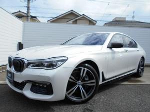 BMW 7シリーズ 740i Mスポーツ LEDヘッドライト 21インチAW ヘッドアップディスプレイ カーボンミラーカバー Mパフォーマンスサイドステッカー 1年AC