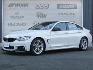 BMW 4シリーズ 420iグランクーペ Mスポーツ カーボンパーツ多数 リップ ディフューザー リアスポ ミラー ルーフラッピング 3Dデザイン4本出マフラー