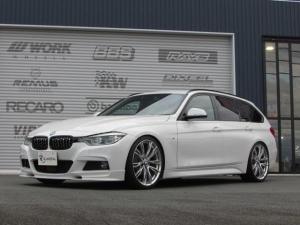 BMW 3シリーズ 320dツーリング Mスポーツ KW車高調 純正オプション20インチアルミ(ダブルスポークスタイリング624M) REMUS4本出しマフラー 3Dデザイン前後スポイラー 社外グリル装着 地デジチューナー ハーマンカードンスピーカー