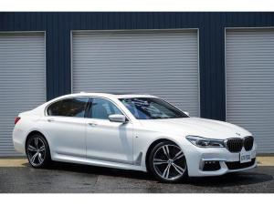 BMW 7シリーズ 750Li Mスポーツ 1オーナー 左ハンドル 茶色ナッパレザー パノラマサンルーフ アルカンターラルーフライニング リアツインモニター アンビエントライト 純正HDDナビ フルセグTV BT 360°カメラ ETC2.0