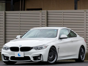 BMW 4シリーズ 420iクーペ ラグジュアリー ワンオーナー M4カスタム仕様 ブラウンレザーシート 純正HDDナビ ブルートゥース DVDビデオ リアビューカメラ バイキセノン インテリジェントセーフティ クルコン パドルシフト
