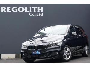 BMW 2シリーズ 218iグランツアラー Mスポーツ 純正HDDナビ DVDビデオ Bluetooth ミラー型ETC リアビューカメラ LEDヘッドライト ドライビングパフォーマンスコントロール インテリジェントセーフティ 3列シート スペアキー
