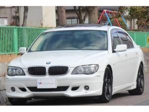 BMW 7シリーズ 750Li 左H・ACシュニッツァー・バイカラー本革シート・コンフォート&シアターpkg・DVDチェンジャー・電動ブラインド・オートトランク・ソフトクローズドア・コンフォートアクセス・サンルーフ・ミラーETC