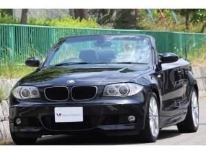 BMW 1シリーズ 120i カブリオレ Mスポーツパッケージ Mスポーツ・オープン良好・黒革シート・パワーシート・シートヒーター・M17インチAW・Mレザースポーツステアリング・社外ナビ・フルセグTV・Bカメラ・Bluetooth・ETC・スペアキー・記録簿
