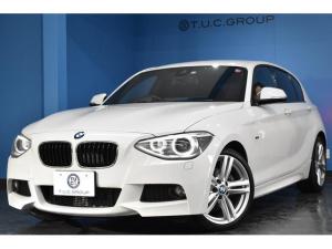 BMW 1シリーズ 120i Mスポーツ 衝突軽減ブレーキ 車線逸脱&歩行車警告 クルコン タッチパッド式iドライブHDDナビ フルセグTV Bカメラ iストップ スマートキー ドラパフォ アルカンターラ電動スポーツシート 2年保証