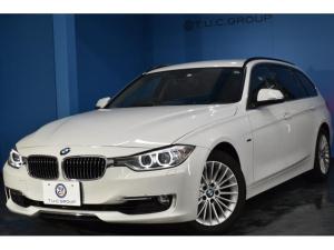 BMW 3シリーズ 320iツーリング ラグジュアリー ヒーター黒革 電動Rゲート Bカメラ ウッドP BTオーディオ&ハンズフリー通話 iドライブ コンフォートA iストップ ミラー内蔵ETC ドラパフォ LEDリングキセノン 8速AT 2年保証