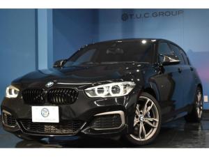 BMW 1シリーズ M140i 直6ターボ 340馬力 LED/H&テール 可変Mサス 車線逸脱&歩行者警告 衝突軽減B パドルS 大型ブレーキ 横メニューiドライブ 18AW エアロ BTオーディオ スマートキー 2年保証