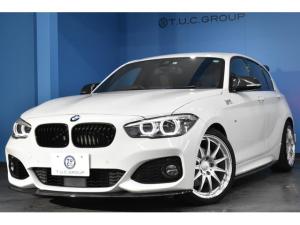BMW 1シリーズ 118i Mスポーツ エディションシャドー 限定車 追従ACC LEDH&フォグ ヒーター付コニャック革 Pアシスト Bカメラ 車線逸脱&歩行者警告 衝突軽減B ハルトゲ18AW ビルシュタイン車高調 タッチパネルiドライブ 2年保証