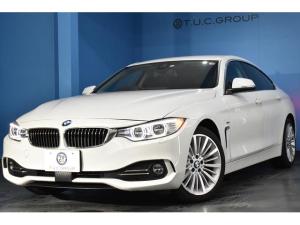 BMW 4シリーズ 420iグランクーペ ラグジュアリー 後期EG 追従ACC ヒーター黒革 アダプティブLED/H 車線変更&車線逸脱&歩行者警告 衝突軽減ブレーキ 電動Rゲート ウッドP BTオーディオ Bカメラ タッチPiドライブ 2年保証