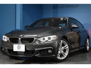 BMW 4シリーズ 420iグランクーペ Mスポーツ 追従ACC ヒーター付レッドレザー 衝突軽減ブレーキ 車線逸脱&歩行車警告 電動リアゲート パドルシフト 1オーナー タッチパッド式iドライブ DVD再生 リアPDC連動Bカメラ ドラパフォ 2年保証