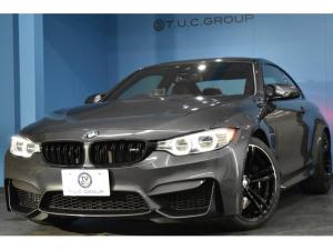 BMW M4 M4クーペ ミネラルグレー ヒーター付サキ―ルオレンジ革 HUD 衝突軽減B 車線逸脱&歩行者警告 LED/H 19AW タッチパッド付iドライブ フルセグ Bカメラ カーボンR 大型パドルシフト 2年保証