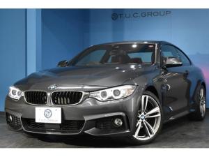 BMW 4シリーズ 420iクーペ Mスポーツ 追従ACC ヒーター赤革 OP19AW 衝突軽減ブレーキ 車線逸脱&歩行者警告 タッチパッド式iドライブHDDナビ Bカメラ iストップ スマートキー ドラパフォ 1オーナー パドル 2年保証