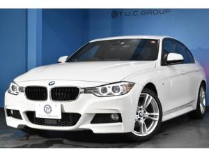 BMW 3シリーズ 320d Mスポーツ 追従ACC 衝突軽減ブレーキ 車線逸脱&歩行者警告 フルセグ リアPDC連動バックカメラ タッチパッド式iドライブHDDナビ アイドリングストップ スマートキー パドル エアロ 18AW 2年保証