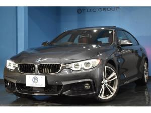 BMW 4シリーズ 435iグランクーペ Mスポーツ アドバンスドアクティブセーフティP 追従ACC HUD サンルーフ オプション19AW ヒーター付レッドレザー 衝突軽減B 車線逸脱&歩行者警告 電動Rゲート フルセグ Bカメラ 2年保証