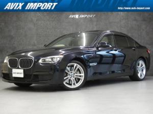 BMW 7シリーズ 750i Mスポーツ 後期最終 1オナ ドライビングアシスト SR ベージュ革 ナビ TV Bカメラ PDC ACC HUD パワーシート ヒーター コンフォートアクセス LEDライト 19AW