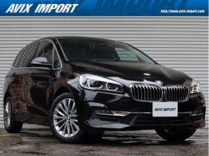 BMW 2シリーズ 218dグランツアラー ラグジュアリー 後期型 コンフォートPKG 黒革 シートヒーター 7人乗り 純正HDDナビ パーキングサポートPKG&Dアシスト LEDヘッドライト&フォグ 8速AT 禁煙 1オーナー 新車保証