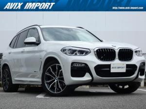 BMW X3 xDrive 20d Mスポーツ イノベーションPKG ハイラインPKG セレクトPKG 黒レザー アクティブクルーズコントロール LED ヘッドアップディスプレイ 純正HDDナビ 地デジ 全周カメラ 専用20AW 禁煙車 正規D車