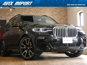 BMW X7 xDrive 35d Mスポーツ ウェルネス&セレクトP スカイラウンジパノラマSR黒革 ACC レーザーライト エグゼクティブDPRO HUD 全ドアソフトクロージャー 6人乗 HDDナビ地デジ全周カメラ Rエンタメ 22AW 禁煙
