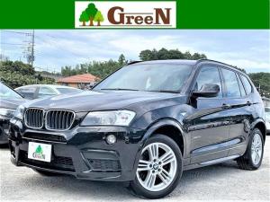 BMW X3 xDrive 20d ブルーパフォマンスMスポーツP 2リッターディーゼルターボ ブラックハーフレザー 純正HDDナビ 地デジ バック&トップビューカメラ キセノン 純正フルエアロ 専用18インチAW パドルシフト アイドリングストップ 禁煙車