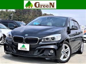 BMW 2シリーズ 218dアクティブツアラー Mスポーツ 2Lディーゼルターボ ワンオーナー車 ホワイトレザー パノラマサンルーフ 純正HDDナビ バックカメラ パークセンサー 純正エアロ 専用17AW 衝突軽減 車線逸脱 アイドリングストップ 禁煙車
