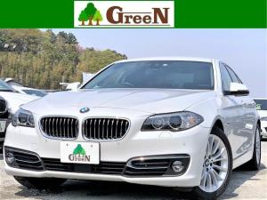 BMW 5シリーズ 523iラグジュアリー 後期2Lターボ 黒本革 ACC 前車追従 インテリジェントセーフティ 衝突軽減ブレーキ 車線警告 純正HDDナビ 地デジ バックカメラ パークセンサー キセノン アイドリングストップ 18AW 禁煙車