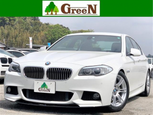 BMW 5シリーズ 523i Mスポーツパッケージ ワンオーナー車 純正フルエアロ Fリップスポイラー 3Dデザインマフラー サス パドルシフト アルカンターラシート 純正HDDナビ バックカメラ イルミネーションエンブレム 地デジ スマートキー 禁煙