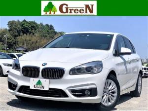BMW 2シリーズ 218dアクティブツアラー ラグジュアリー ワンオーナー 2Lディーゼルターボ 黒本革 インテリジェントセーフティ 衝突軽減ブレーキ パーキングサポートPKG バックカメラ&パークセンサー 純正HDDナビ アイドリングストップ 禁煙